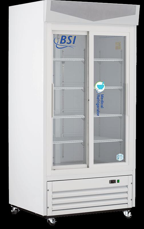 BSI Sliding Glass Door Pharmacy Vaccine Refrigerator  | 33 Cu. Ft.