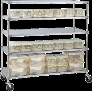 Lab Animal Cage Racks (Autoclavable)
