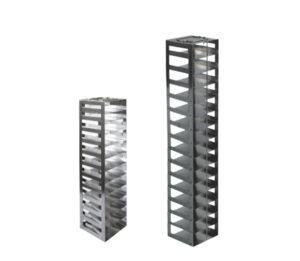 Stainless & Aluminum Vertical Freezer Racks for 2 Inch Mini Boxes