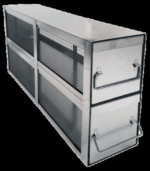 Stainless Bin Style Freezer Racks