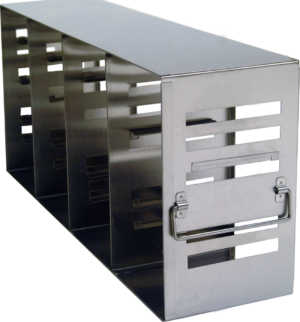 Stainless Upright Freezer Racks Modifiable for 2 & 3 Inch Boxes