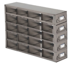 Stainless Upright Freezer Racks for 25-place Slide Boxes