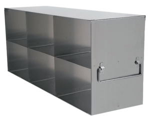 Stainless Upright Freezer Racks for 3.75 Inch Boxes