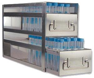 Stainless Upright Freezer Racks for Centrifuge Tubes