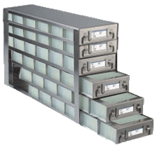 Stainless Upright Freezer Racks for Microtiter Plates