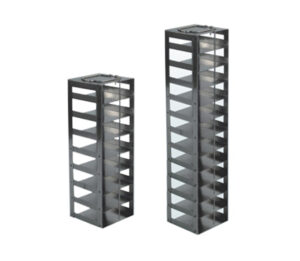Stainless Vertical Freezer Racks for 25-place Slide Boxes