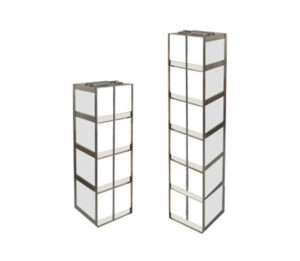Stainless Vertical Freezer Racks for Centrifuge Tubes & Boxes
