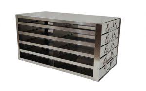 Upright Freezer Racks for COVID-19 Box Storage